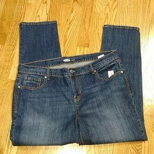 NWT Old Navy boyfriend straight leg jeans 14